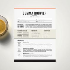 Creative Resume Template and Cover Letter for MS Word | #diy #graphicdesign #resume