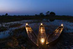 Romantic mokoro boating Mapula Lodge, Okavango Delta, #Botswana #unchartedafrica