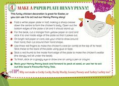 Make a paper plate Henny Penny to act out our Storytime Issue 19 fairy tale! ~ STORYTIMEMAGAZINE.COM