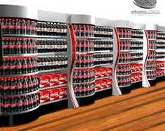 in-aisle presentation for Coke product | in-line display | merchandising