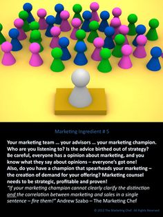 # 005  Who's your marketing champion? Who's on your marketing team?