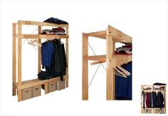 IKEA Hack: Turn IVAR shelving unit into wardrobe.  Need this for attic bonus room turned bedroom!