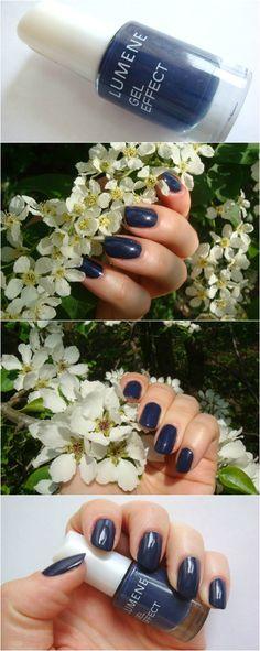 Лак для ногтей  Lumene Gel Effect 16 Lake Blue безумно элегантный синий цвет, стильно и универсально.