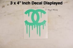 Chanel logo Chanel dripping Chanel Painting by VinylWorksDesign