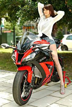 Stretch before the Ride my o my she is a tall drink of water