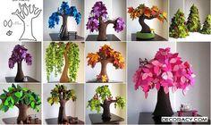 DIY Felt Trees - http://www.decoracy.com/interior-decor/diy-felt-trees.html