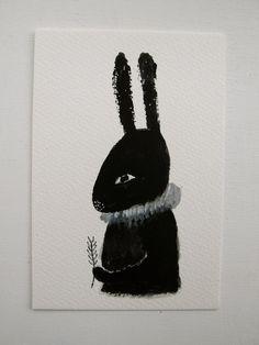 cathy cullis' black rabbit