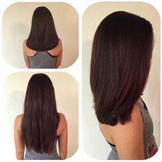 Cut by Stylist Jayne. Cut by Stylist Jayne. Medium Hair Cuts, Medium Hair Styles, Short Hair Styles, Haircuts Straight Hair, Long Bob Hairstyles, Super Hair, Shoulder Length Hair, Hair Lengths, Hair Trends