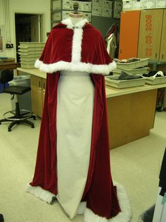 Red cloak for the winter wedding.  (This is actually Belle's cloak from the christmas Beauty and the Beast movie hehe)