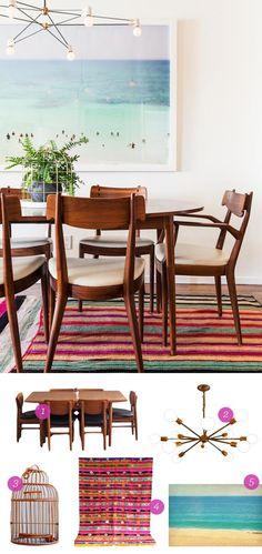LOVE the print. #retro Get the Look: Bri Emery's Los Angeles Living Room   The Etsy Blog