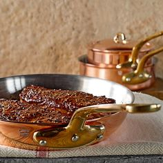 Williams Sonoma Copper Pans  | Featured in Inside Design: Kissed with Copper by Pear Tree