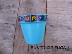 Maceta pintada a mano - Macetas - Casa - 398100 Painted Clay Pots, Painted Rocks Craft, Painted Flower Pots, Painted Vases, Flower Pot Crafts, Clay Pot Crafts, Flower Pot Design, Pot Jardin, Diy Planters