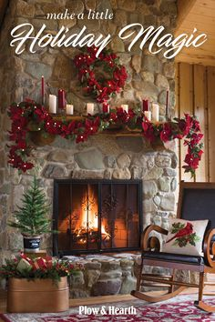 Start here for holiday cheer! Plow & Hearth is your one-stop shop for easy, amazing decor (no fuss, big impact), special gifts and so much more! Cozy Christmas, Rustic Christmas, Christmas Wreaths, Christmas Centerpieces, Xmas Decorations, Christmas Fireplace Mantels, Christmas Projects, Amazing Decor, Mantles