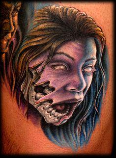 Work by Stefano Alcantara of Last Rites Tattoo