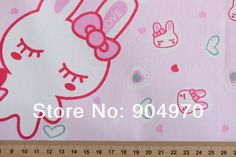 Quilting Bedding 100% cotton fabric METER Baby Fabric Patchwork HOME Textile kids cute LOVELY RABBIT for CLOTH sewing SUPER DEAL-in Fabric from Home & Garden on Aliexpress.com | Alibaba Group