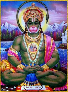 Unusual painting of Hanumanji Hanuman Pics, Hanuman Chalisa, Hanuman Images, Jai Hanuman Photos, Shiva Art, Shiva Shakti, Krishna Art, Om Namah Shivaya, Hanuman Ji Wallpapers