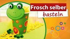 ◀ Frosch selber basteln ▶ trendmarkt24 - Kindergeburtstag Bastelidee