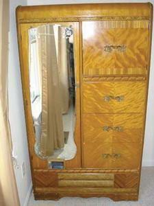 1940s Art Deco Waterfall 3 Pc. Bedroom Furniture TedsList.com™