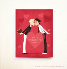 for gay partner on valentines day red hearts card lgbt cards and gifts pinterest heart cards - Gay Valentines Cards