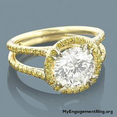 luxurious 18k white and yellow diamond ring for engagement - My Engagement Ring
