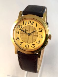 "Vintage Men's ""RAY"" (LUCH) wristwatch. Unusual dial, round face, Soviet USSR watch. Gift for him"
