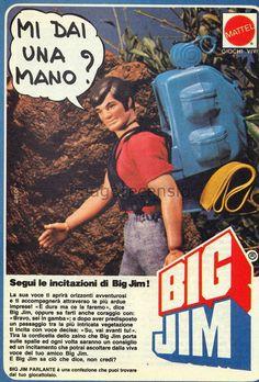 "Imago Recensio: ""Zaino parlante"" di Big Jim - Mattel 1973 Big Jim Mattel, Gi Joe, Nintendo, Lone Ranger, Old Ads, Retro, Vintage Advertisements, Alter, Vintage Toys"