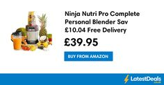 Ninja Nutri Pro Complete Personal Blender Save £10.04 Free Delivery, £39.95 at Amazon