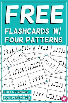 These FREE printable rhythm flashcards (quarter note, paired notes, and quarter rest) are SO han Elementary Music Lessons, Music Lessons For Kids, Music Lesson Plans, Piano Lessons, Music Education Activities, Movement Activities, Physical Education, Music Flashcards, Middle School Music