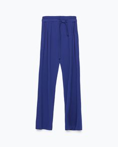 ZARA - WOMAN - LOOSE-FIT TROUSERS