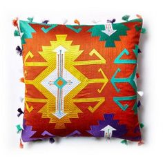 Check out this item at One Kings Lane! Metzli 18x18 Pillow, Orange