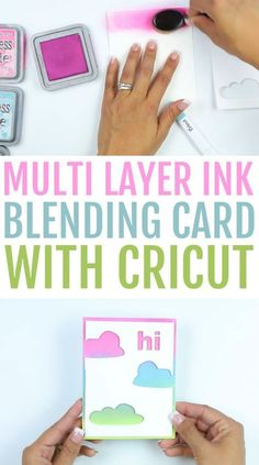You are going to love this Multi-Layer Ink Blending Card with Cricut we have for you today. It's such a fun project and a great beginner craft project to learn more about blending multiple layers of ink. #cricut #diecutting #cricutmade #cricutprojects #cricutmaker #cricutexplore