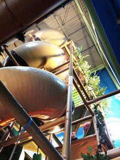 Spiral Slide in INdoor Tree House by Iplayco - Indoor Playground Equipment, via Flickr