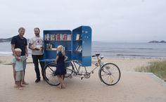 Bike libary on the beach in Mandal.  Photo: Peder Austrud©Visit Sørlandet
