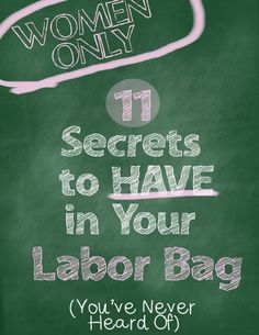11 Secrets to Have in Your Labor Bag---For Women Only   Live Like You Are Rich   on any income