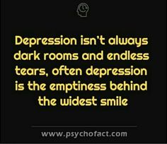 """I smile to him and say: """"I'm fine"""" but he always seems to see the emptiness and despair."""