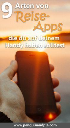 Wir zeigen dir 9 Arten von Reise-Apps, die du unbedingt auf deinem Handy haben solltest. Viele Apps helfen dir beim Reise Planen, in einer neuen Stadt zurecht zu kommen oder um Reise Tipps für Cafes oder Restaurants zu bekommen. #reisetipps #reiseplanen #reisehacks #reiseziele