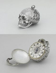 17th century, Jean Jacques Rousseau (Swiss philosopher, writer, Romanticism composer; 1712-78) ~ 'Skull watch'