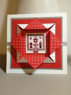 some easy cards to make Boxed Christmas Cards, Merry Christmas Card, Xmas Cards, Handmade Christmas, Tri Fold Cards, Fancy Fold Cards, Folded Cards, Origami Cards, Card Tutorials