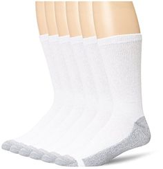 Men's 6 Pack Cushion Crew Socks, White, 2 Pack (12 Pairs), Shoe Size 12-14 >>> You can get additional details at the image link.(It is Amazon affiliate link) #MensSocks