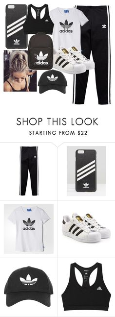 """""""Adidas"""" by theofficialfashionista ❤ liked on Polyvore featuring adidas Originals, adidas and Topshop"""