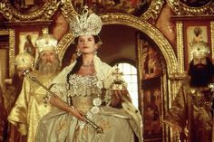 In the two movies were made about Catherine the Great. We compare the films, focusing on how historically accurate the costumes are. Two Movies, Great Movies, Movie Tv, Julia Ormond, Catherine The Great, Catherine Zeta Jones, Ronald Reagan, Fantasy Dress, 18th Century