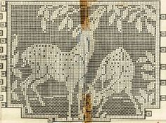 Crochet PATTERN Alice Books 7076 Chair Set Deer in Filet stitching 1940s design in PDF format instant download