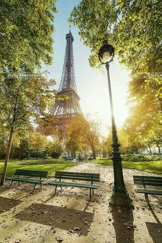 Champs de Mars , jardins autour de la tour Eiffel, Paris 7eme