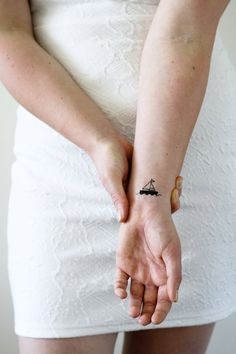 2 small boat temporary tattoos / ship temporary tattoo /