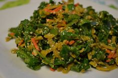 Kale and Golden Beet Salad with Tahini Dressing