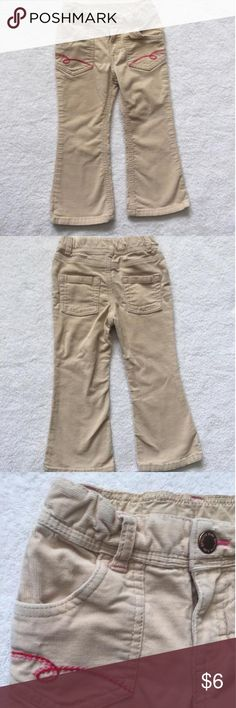 🎉Editor's Pick🎉Genuine Kids corduroy pants Tan corduroy pants with adjustable waist and pink embroidery. So cute and perfect for fall! Genuine Kids Bottoms Casual