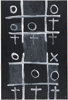 Colin McCAHON, Noughts and crosses 4, 1976 Long White Cloud, New Zealand Art, Crosses, Unique Art, New Art, Grid, Artists, Creative, Quirky Art