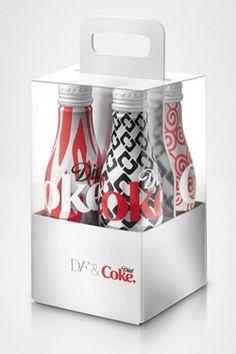 Diane von Furstenberg Puts Prints on Diet Coke