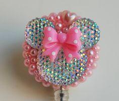Minnie Mouse In The Pink ID Badge Reel  RN ID by ZipperedHeart, $12.00
