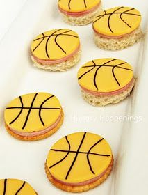 March Madness party snacks! // Maybe in green and gold for Baylor men's and women's basketball!